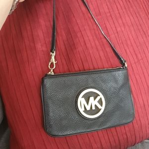 Michael Kors small leather clutch